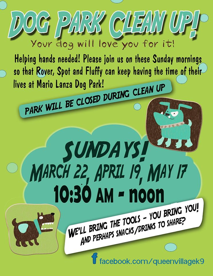 Dog Park Clean Up May 17th